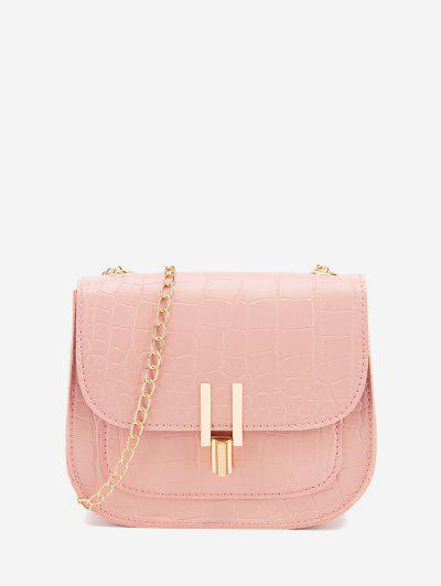 Mini Flap Chain Crossbody Bag - Watermelon Pink