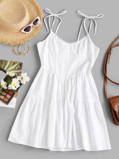 Bustier Tie Shoulder Swing Summer Dress - White Xl
