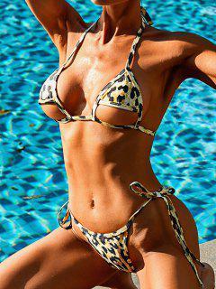 ZAFUL Costume Da Bagno Bikini Imbottito Con Stampa Leopardata - Giallo L