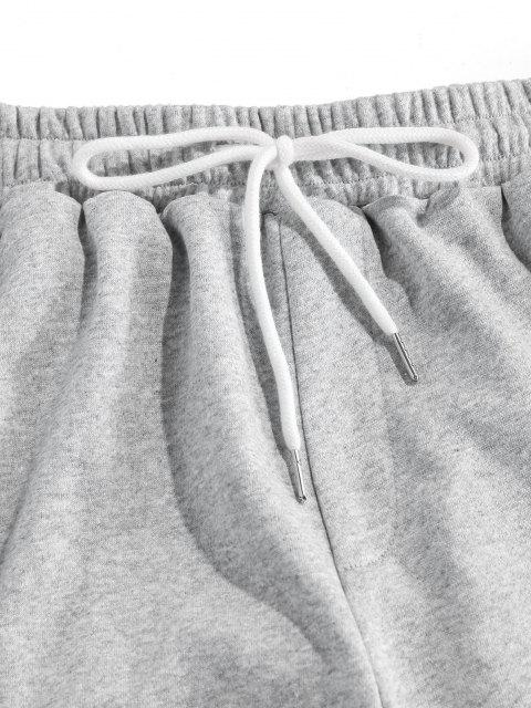 ZAFUL Pantalones Lápiz de Gráfico de Rosa - Gris Claro M Mobile