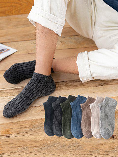 7 Paar Einfache Gerippte Knöchel Socken Set - Multi  Mobile