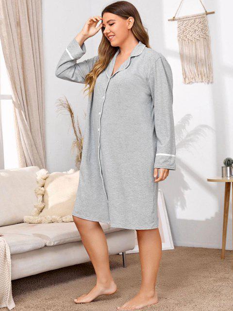 Vestido para Dormir Talla Extra - Gris Claro 1XL Mobile