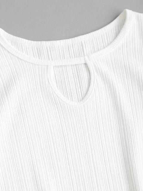 Camisola de Algodão com Buraco da Fechadura - Branco Um Tamanho Mobile