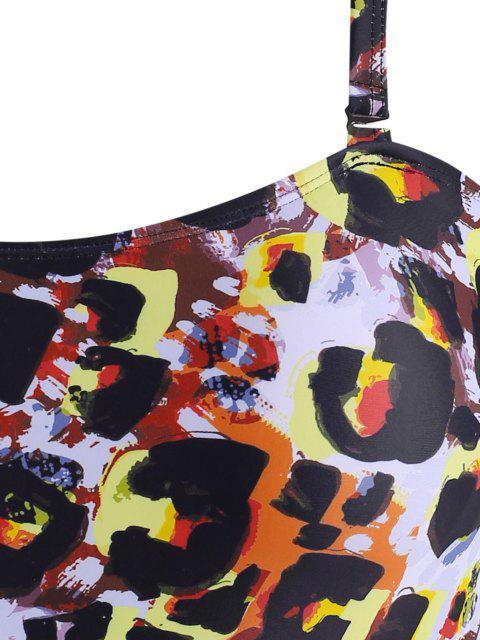 ZAFUL Übergröße Leopard Rückenfrei Badebekleidung - Multi XL Mobile