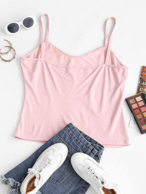 ZAFUL Haut Perlé à Bretelle de Grande Taille - Rose Léger  L Mobile