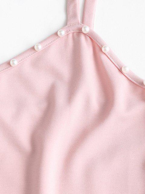 ZAFUL Haut Perlé à Bretelle de Grande Taille - Rose clair L Mobile