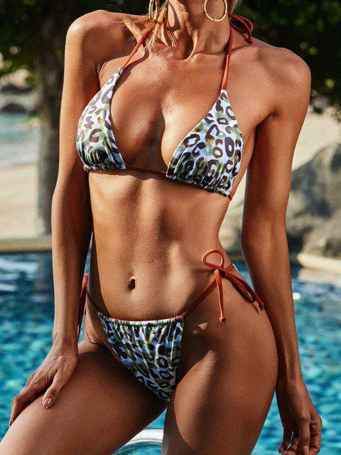 ZAFUL Costume da Bagno Bikini con Stampa Leopardato - caffè S Mobile