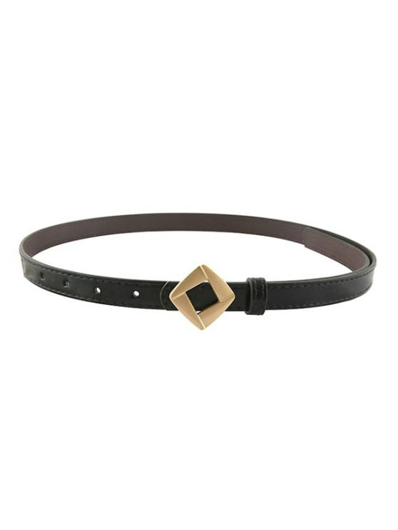 fashion Rhomb Metallic Decorative Waist Belt - BLACK