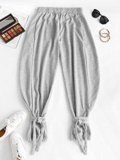 Pantaloni Sportivi Con Nodo - Grigio S