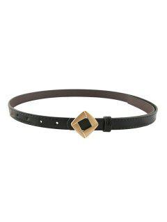 Rhomb Metallic Decorative Waist Belt - Black