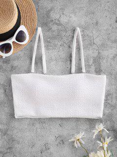 ZAFUL Textured Padded Cami Swim Top - White S