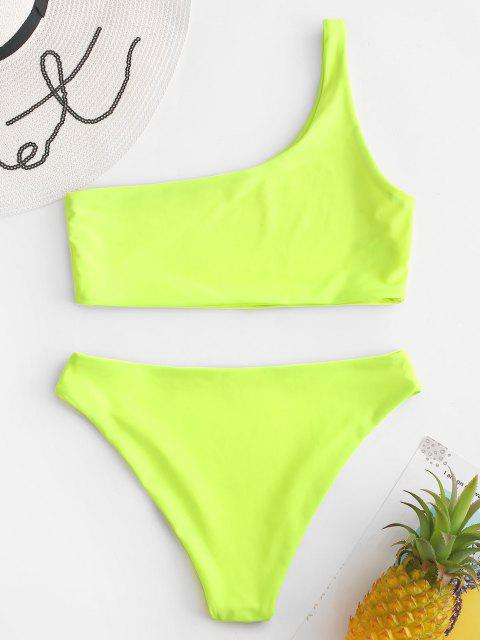 Ensemble de Bikini à Une Epaule - Vert Thé S Mobile