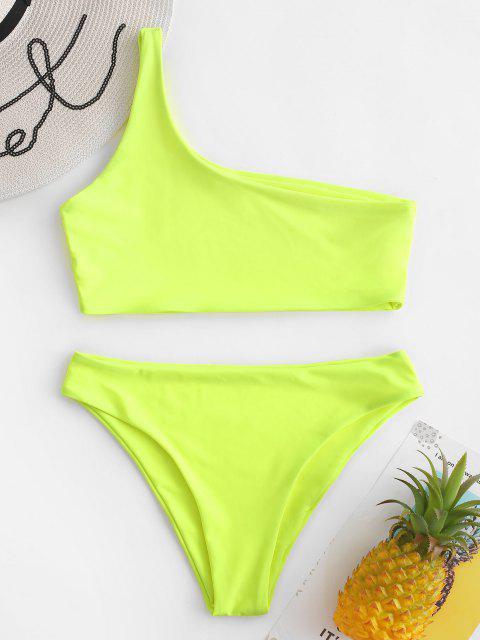 Ensemble de Bikini à Une Epaule - Vert Thé L Mobile