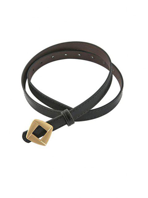 fashion Rhomb Metallic Decorative Waist Belt - BLACK  Mobile
