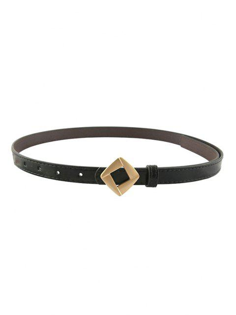 Rhomb Metallic Decorative Waist Belt - أسود  Mobile
