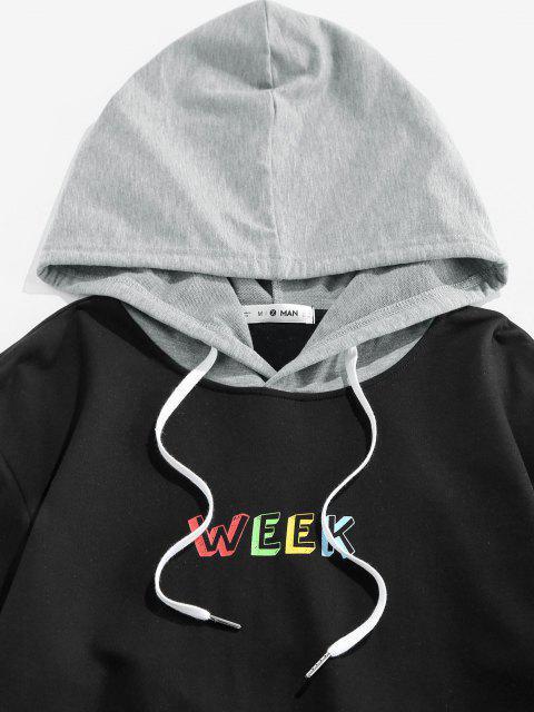 lady ZAFUL Week Colorblock Hoodie - MULTI M Mobile