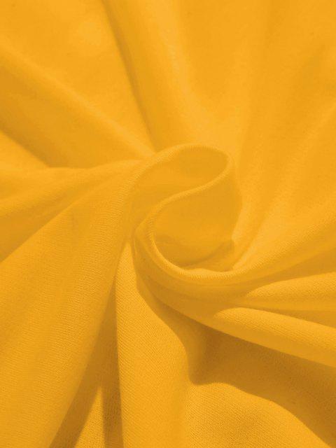 ZAFUL Moletom Alinhado Impressão de Banana de Bolso do Canguru - Amarelo XL Mobile
