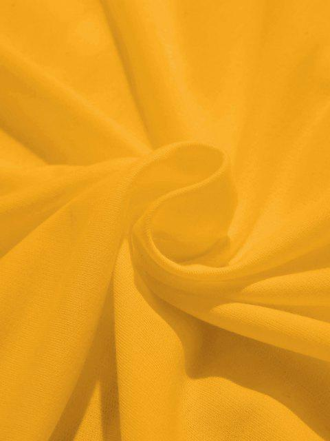 ZAFUL Sweat à Capuche Banane Imprimée avec Poche Kangourou - Jaune XL Mobile