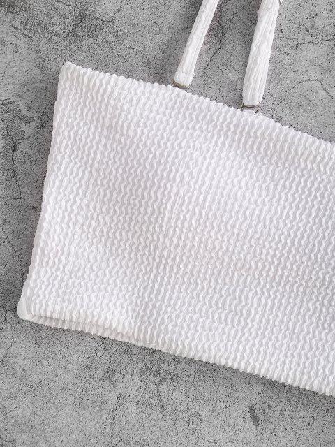 ZAFUL Haut de Bain Rembourré Texturé à Bretelle - Blanc S Mobile