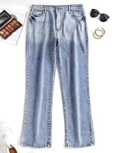 Distressed Pocket Straight Jeans