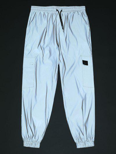 Reflective Patch Cargo Pants - Gray Xl