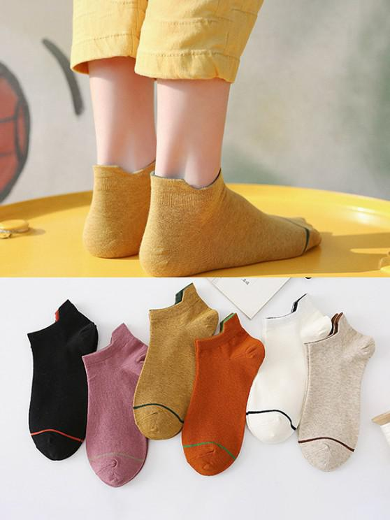 outfits 5 Pairs Anti-Chafe Tab Ankle Socks Set - MULTI