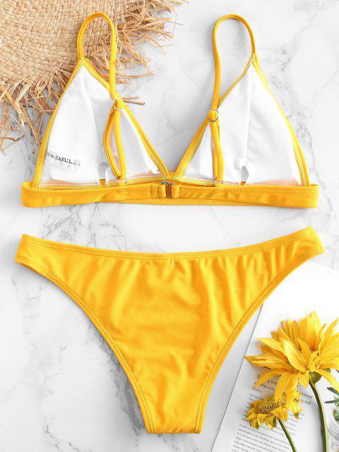 fancy ZAFUL Padding Bikini Set - RUBBER DUCKY YELLOW S Mobile
