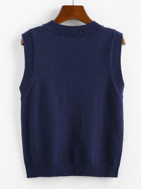 ZAFUL Camisola de Colete de Decote em V - Azul Escuro L Mobile