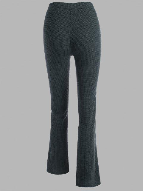 shop Tape Side High Waisted Slit Cuffs Pants - DARK GRAY L Mobile
