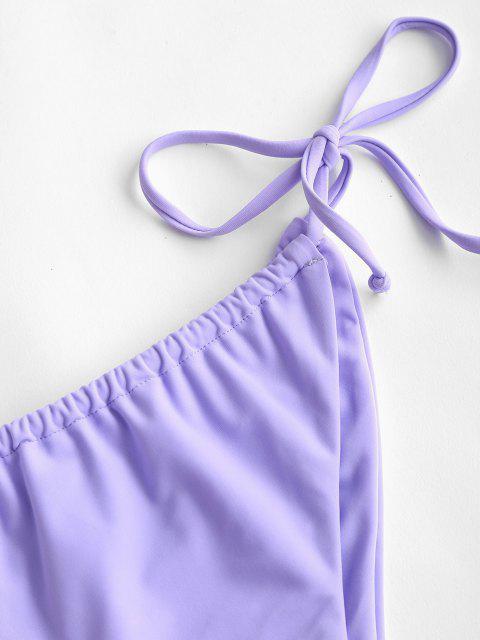 ZAFUL Bikiniunterteil mit Seitlicher Schnur - Helles Lila S Mobile