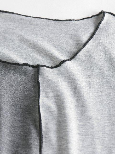 best ZAFUL Colorblock Contrast Stitching Tank Top - GRAY M Mobile