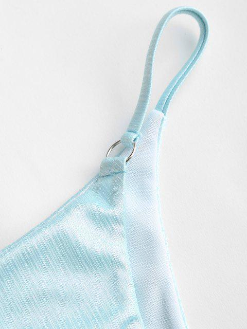 ZAFUL O Ring Metallische Schnur Bikini Unterteile - Hellblau S Mobile