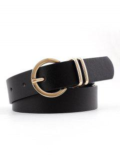 Brief PU Pin Buckle Belt - Black
