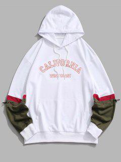 CALIFORNIA WEST COAST Colorblock Hoodie - White L