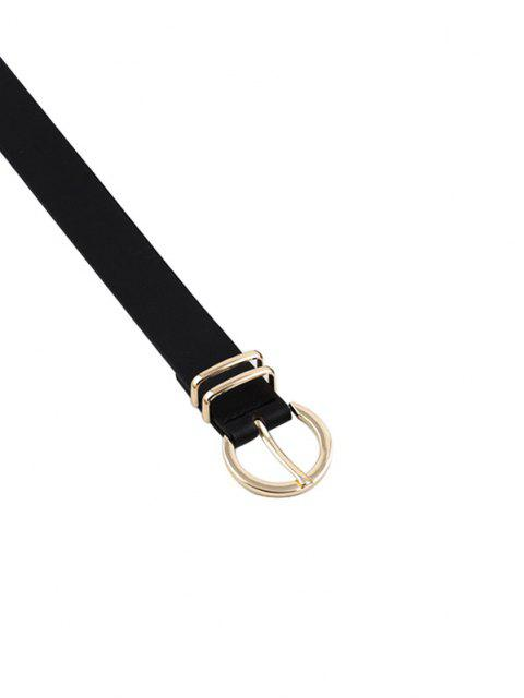 Brief PU Pin Buckle Belt - أسود  Mobile