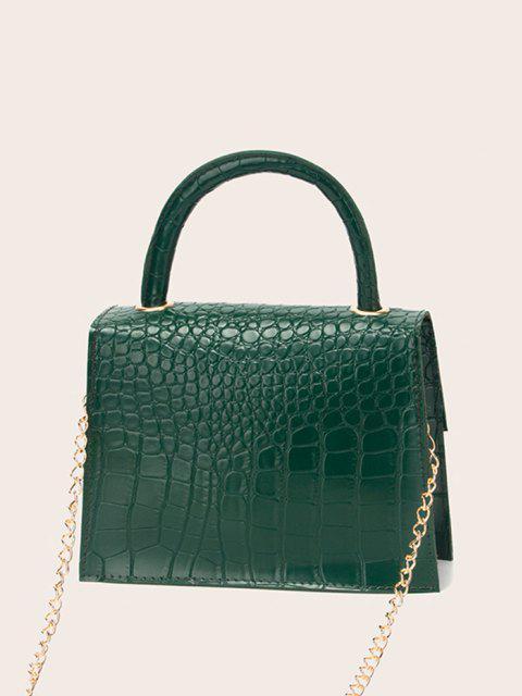 Bolsa de Ombro alças com impresso de letras - Verde de Pinho  Mobile