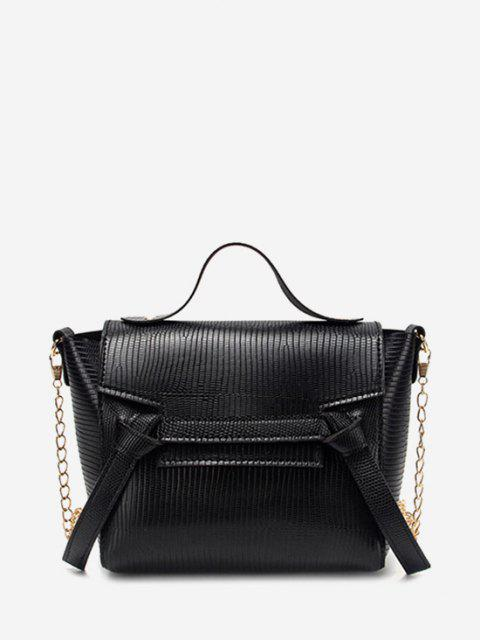 affordable Chain Knot Cover Crossbody Bag - BLACK  Mobile