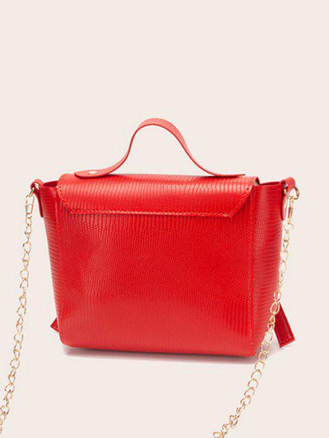 Kettenknotenabdeckung Crossbody Bag - Rubin Rot  Mobile