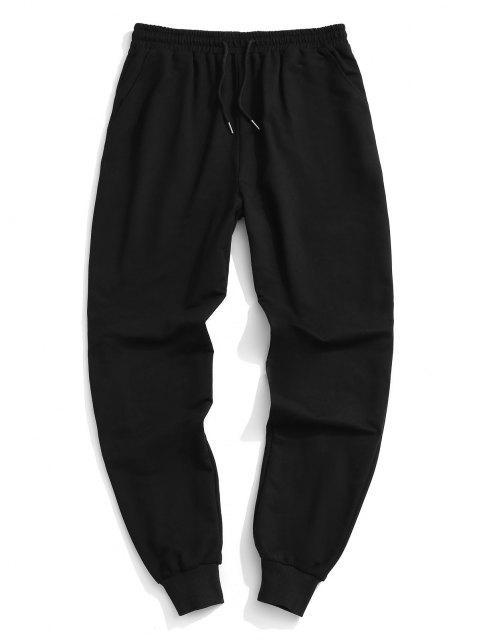 Pantalones Deportivos Cintura Elástica - Negro S Mobile