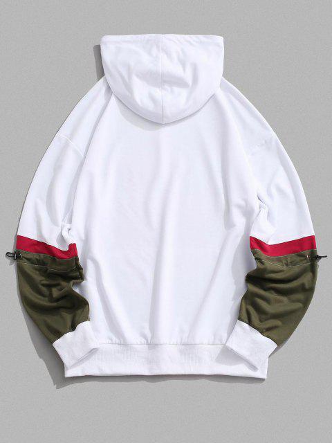 fashion CALIFORNIA WEST COAST Colorblock Hoodie - WHITE 2XL Mobile