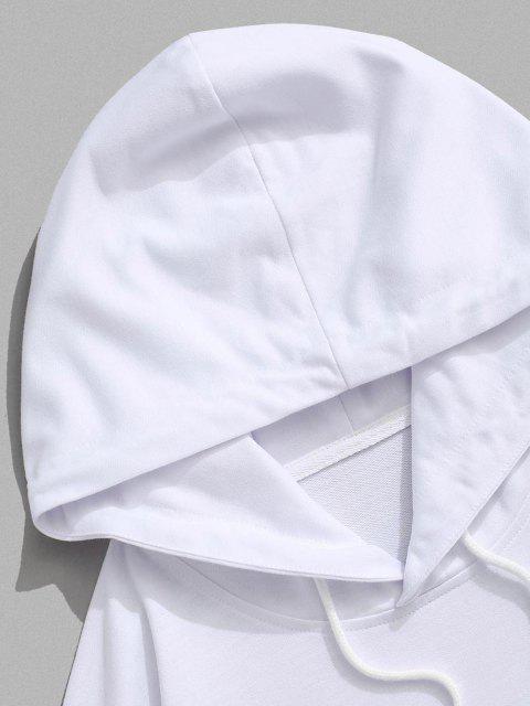women's CALIFORNIA WEST COAST Colorblock Hoodie - WHITE L Mobile