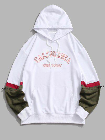 CALIFORNIA WEST COAST Colorblock Hoodie - White L