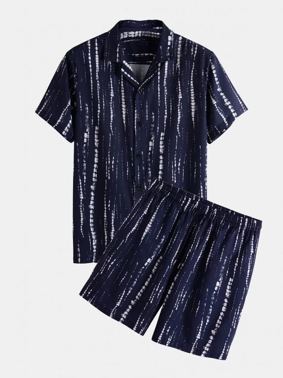 Conjunto de duas peças camiseta ajustada e calças para bebê com Laço - Azul Escuro S