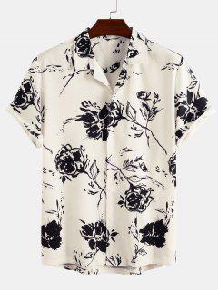 Short Sleeve Rose Shirt - White M