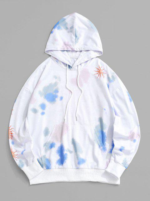 ladies Tie Dye Flame Deeper Under-standing Hoodie - WHITE L Mobile