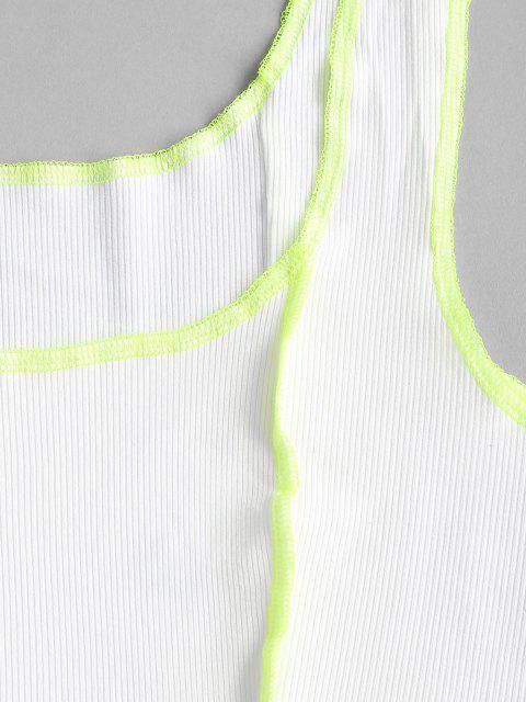 Regatas Neon com Nervuras em Colheita Cortado - Branco L Mobile