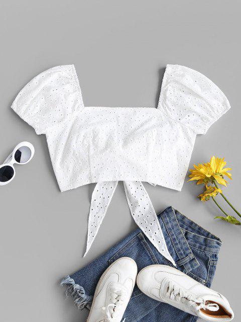 Blusa olímpica com manga longa Cortado - Branco S Mobile