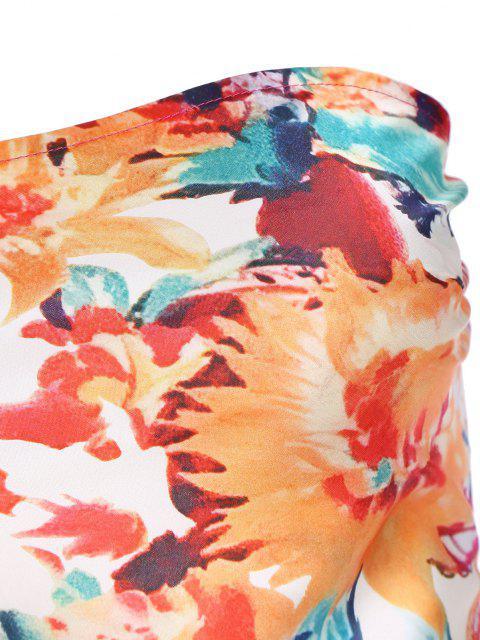 넥타이 백 꽃 스카프 튜브 탑 - 빨간 XS Mobile