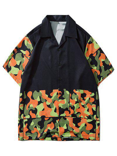 Camouflage Pattern Short Sleeve Shirt - Acu Camouflage L