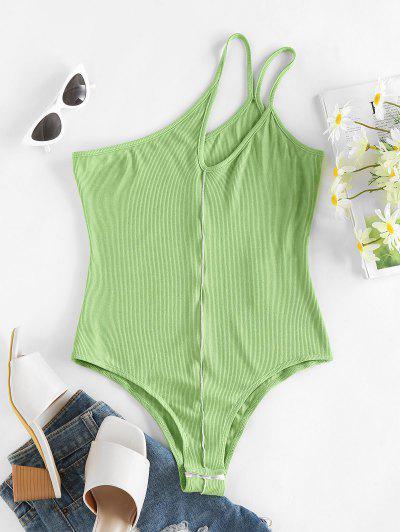 Body Floreale A Costine A Monospalla Di ZAFUL - Verde Chiaro M